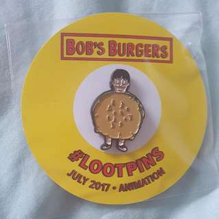 Bob's Burgers Gene In Burger Mascot Costume July 2017 Lootcrate Exclusive Pin