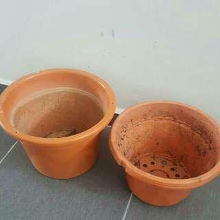 (SK) 5 x Flower Plant Pots