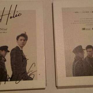 """100% 全新正版 C AllStar """"Loveholic Vol. 1"""" 親筆簽名CD,每隻$200, 圖中顯示底面作參考 100% new C AllStar """"Loveholic Vol. 1"""" signed CD, @ $200 each"""