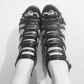 Le Saunda Cage Wedge Shoes 6