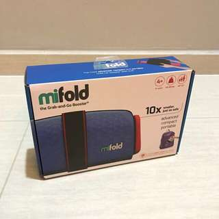 Free Delivery Brand New mifold Grab-and-Go Car Booster Seat, Blue