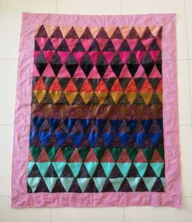 Patchwork blanket (百纳被)-Triangle pattern- Christmas gifts for your love ones