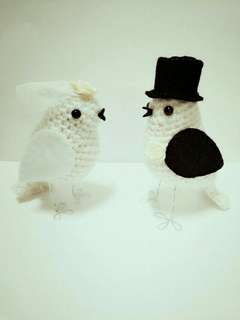 Wedding Crochet Birds Bride & Groom