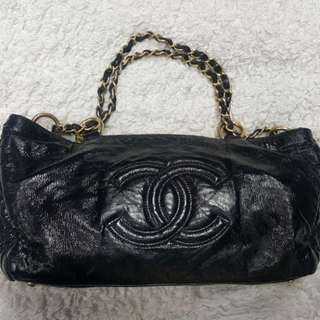 Chanel black small tote bag