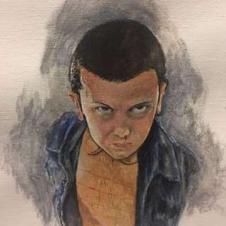 Eleven from stranger things- Acrylic Painting