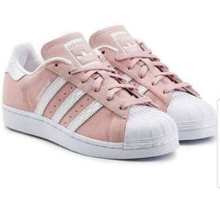 Adidas Superstars pink size 6.5 new