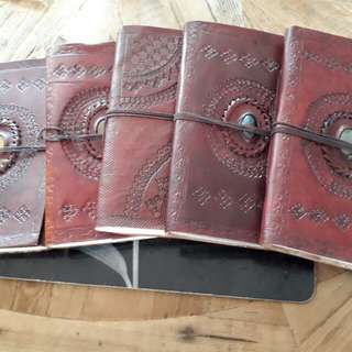 Artisan style leather journals.