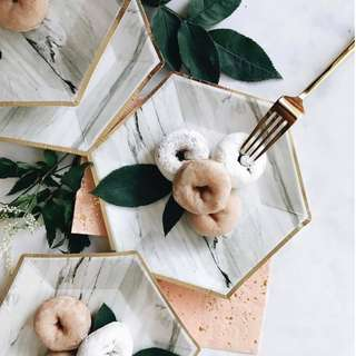 Marble Small Paper Party Plates