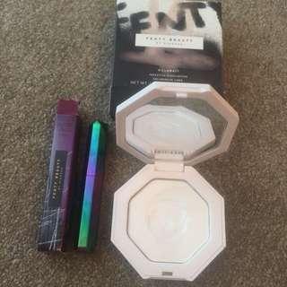 Fenty Beauty Makeup Bundle Metal Moon Highlighter & Supernova Lipstick