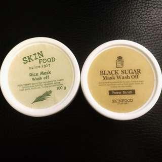 Skin food black sugar+rice mask