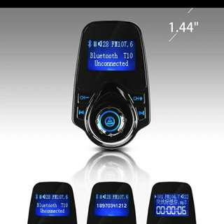 FM Transmitter T10 Bluetooth Stereo Music Car MP3 Players/USB Charger Handsfree Calling Handset