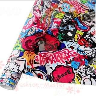 DIY  48cmx22cm  Graffiti Car Sticker Bomb / Wrap  / Decal