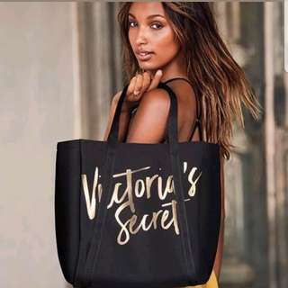Victoria's Secret Beach Cooler Insulated TOTE Black & Gold BNWT RRP US$78