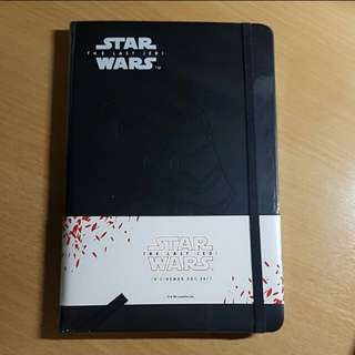 Star wars collectibles notebook