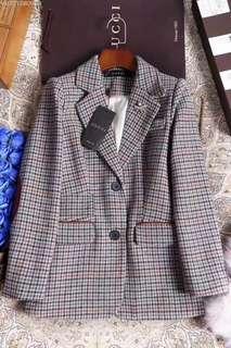 GUCCl 氣質格紋 西服 西服外套