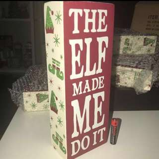 Christmas Holidays ELF Wood Block Sign from KOHL'S USA