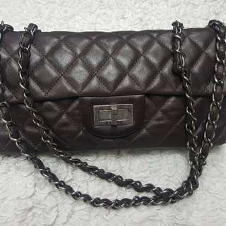 Chanel brown vintage classic small bag