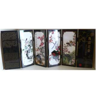 Chinese style 6-piece double sided small screen with original packing