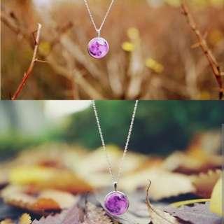 Original Winbling Moon Necklace PURPLE