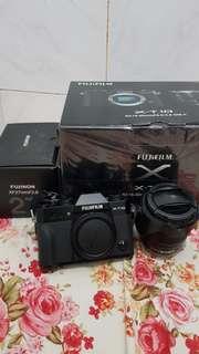 Jual Fujifilm X-T10 lengkap + 16-50mm & 27mm