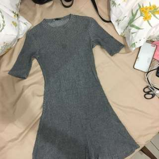 Zara grey fitted dress