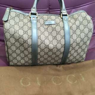 Aithentic GUCCI boston coated canvas bag