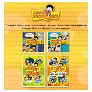 CD Pendidikan PAKET Anak Mandiri (Lengkap 4 seri) Akal Interaktif