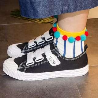 船襪短襪韓國可愛襪子秋冬立體球球襪條紋棉襪女春夏原宿風復古襪