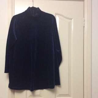 Velvet Turtleneck Dress
