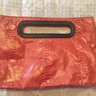 Python Leather Bag/Purse
