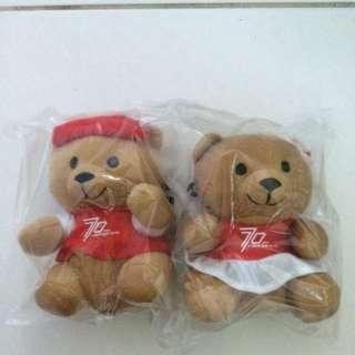 1 Pair SQ 70 Anniversary Bear