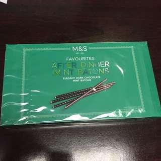 M&S dark choco stick with Mint 聖誕 抽獎 送禮 必備