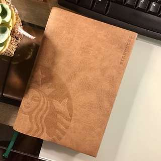 Opened Starbucks 2018 Planner (without card, LEATHER SLEEVE & calendar)