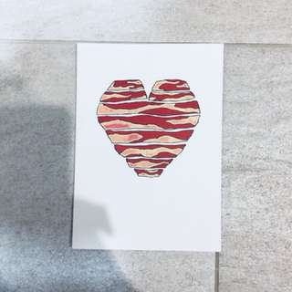 I love you more than bacon. Card prefect for your bby.
