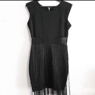 Bodycon Mesh & Tassels Dress