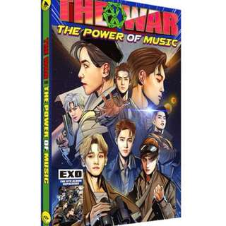 EXO POWER -엑소EXO 4TH ALBUM REPACKAGE - THE WAR (THE POWER OF MUSIC) (KOREAN VERSION)