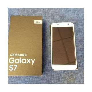 95%新 Samsung Galaxy S7 32GB 白 White 連盒及單