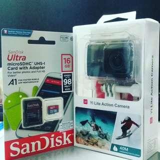 YiLite + Memory Card 16GB