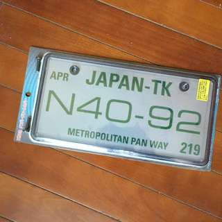 Number plate cover