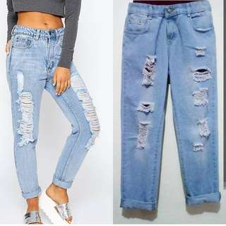 Tattered Mommy Jeans August