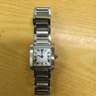 Cartier Tank Francaise Silver Dial Stainless Steel Ladies Watch WSTA0005 (Original)