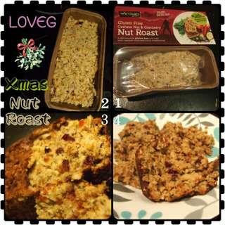 🎄簡易純素無麩聖誕菜式 - 腰果紅莓烤果仁/ Quick & easy Vegan Gluten free Xmas dish - Cashew & Cranberry Nut Roast