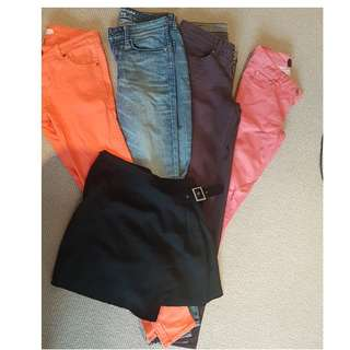 Various Jeans and skirt $5 for each and $18 if you take them all.