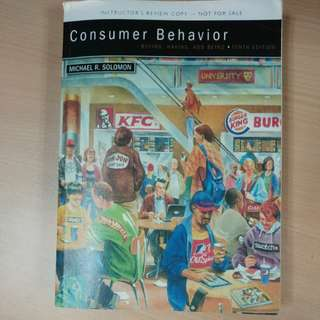 Consumer Behaviour - Buying, Having, and Being (10th Ed)