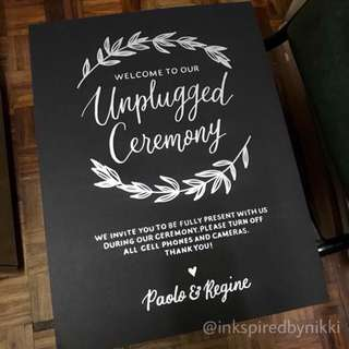 Wedding Signages - Unplugged Ceremony