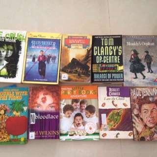 10 books for 50c each or $4 for all