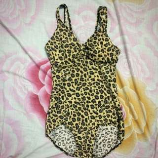 Leopard printed one piece