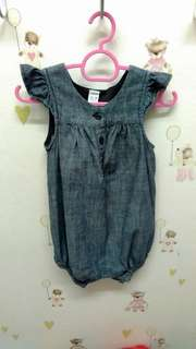 Denim romper 12-18months