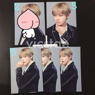 V / MINI PHOTOCARDS / BTS THE WINGS TOUR -THE FINAL- OFFICIAL MD