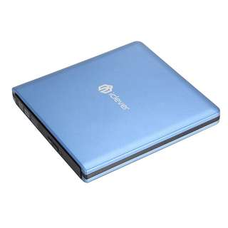 iClever USB 3.0 External DVD CD Drive, Faster Data Transfer CD/ DVD Burner for Apple Macbook Pro/ Air/ iMac and Other PC Laptop Desktop Blue - 423